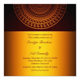 Elegant Classy Pattern Gold Anniversary Invitation