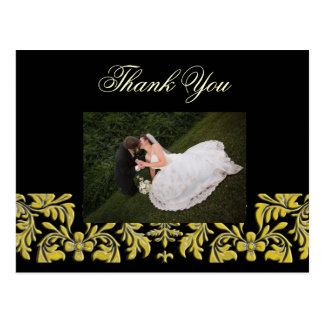 Elegant + Classy Thank You Photo postcards, Postcard