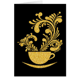 Elegant Coffee Stationery Note Card