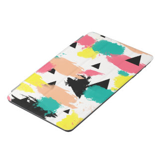 Elegant colorful abstract geometric pattern iPad mini cover