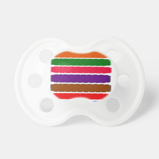 Elegant Colorful Rainbow Slices Pattern Pacifier