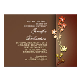 elegant colorful sakura bridal shower invitations