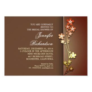 "elegant colorful sakura bridal shower invitations 5"" x 7"" invitation card"