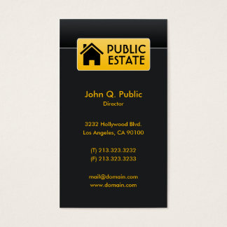 Elegant Corporate Black Real Estate Business Card