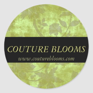 Elegant Couture Floral Business Sticker