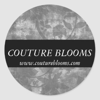 Elegant Couture Florist Business Sticker