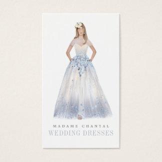 Elegant Custom Wedding Dress Designer Boutique Business Card