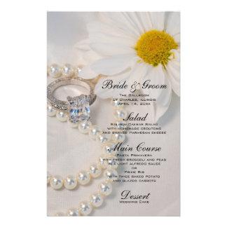 Elegant Daisy Wedding Menu