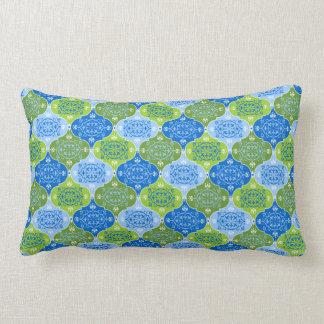 Elegant Damask Decorative Pattern Lumbar Cushion