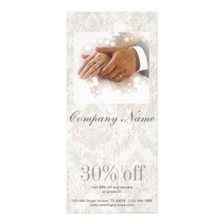 elegant damask wedding planner business rack card