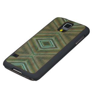 Elegant Dark Green Pattern Maple Galaxy S5 Slim Case