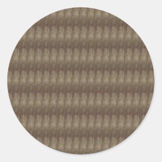 Elegant Dark Shade Metal Look Pattern ART GIFTS Round Sticker