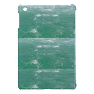 Elegant DEEP SEA GREEN Waves Print by NAVIN JOSHI Case For The iPad Mini