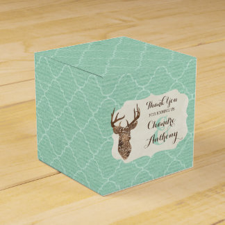 Elegant Deer Antlers Rustic Country Wedding Party Favour Box