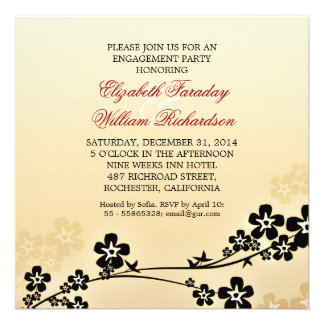 elegant design engagement party invitations