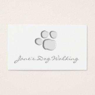 Elegant Dog Walking Paw Print Business Card