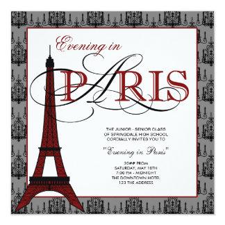 Elegant Eiffel Tower Paris Prom 13 Cm X 13 Cm Square Invitation Card