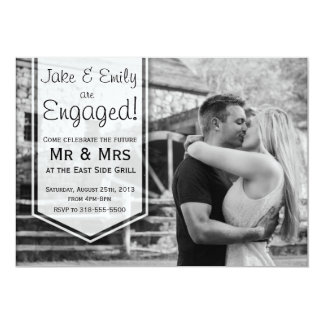Elegant Engagement Announcement