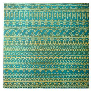 Elegant Ethnic Golden Pattern | Ceramic Tile