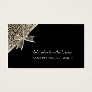 Elegant Event Planner Platinum Leopard Chic Bow