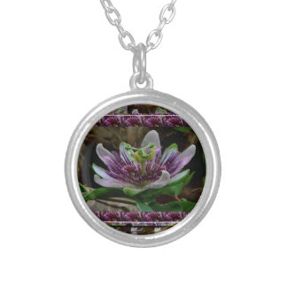 Elegant EXOTIC flower Template DIY Gifts floral Personalized Necklace