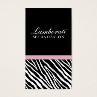 Elegant Fashion Zebra Print Hair Stylist Salon Spa Business Card