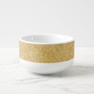 Elegant Faux Gold Glitter Soup Mug