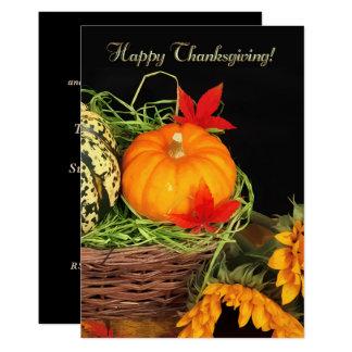 Elegant Festive Thanksgiving Dinner Invitations