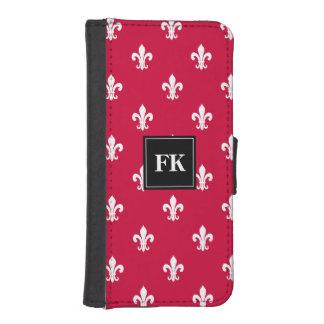 Elegant fleur de lis pattern iPhone wallet case