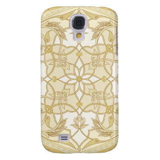 Elegant floral gold Galaxy S4 case Decorative