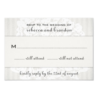 Elegant Floral Lace Wedding RSVP Cards