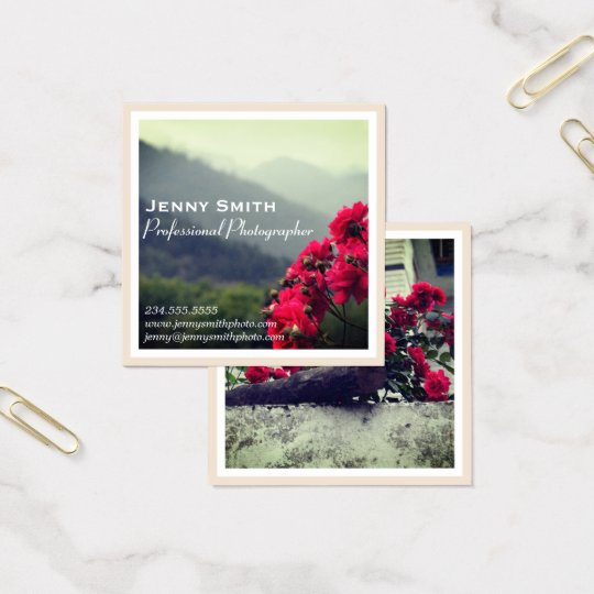 Elegant Floral Nature Photography Business Card