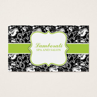 Elegant Floral Pattern Salon Hairdresser Stylist Business Card