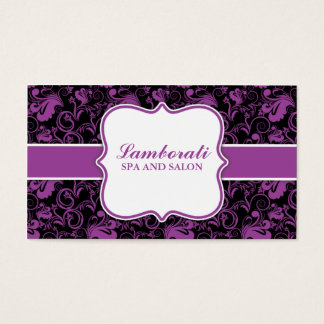 Elegant Floral Pattern Stylist Hairdresser Salon Business Card