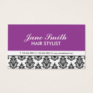 Elegant Floral Pattern Stylist Salon Hairdresser