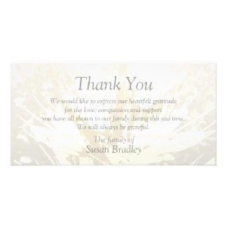 Elegant Floral Pattern Sympathy Thank you P card 2 Photo Cards