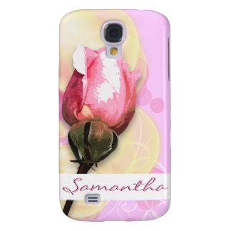 Elegant floral pink swirls galaxy s4 case