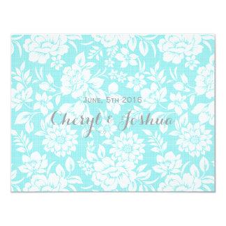 Elegant Floral Teal RSVP Card