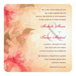 Elegant Floral Wisps Wedding Invitations