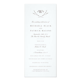 Elegant Forest Wedding Program
