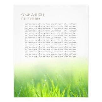 Elegant Fresh Green Grass 11.5 Cm X 14 Cm Flyer