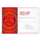 Elegant Ganesh | Indian God Red RSVP Cards