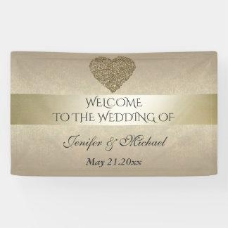 Elegant gentle golden abstract heart wedding
