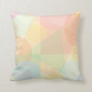 Elegant Geometric Pastel Pattern Throw Pillow