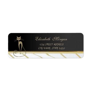 Elegant Glamorous Chic, Cat  Address Label-