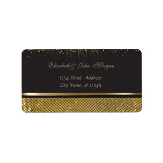 Elegant Glamorous  Stylish Black  Shiny,Sequins Label