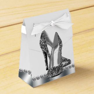 Elegant Glitter High Heel Shoe Favour Box