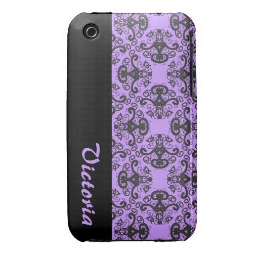 Elegant Goddess Damask Pattern name iPhone 3 case