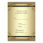 Elegant Gold 50th Wedding Anniversary Party RSVP Personalised Invitations