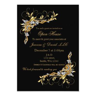Elegant Gold Black Corporate party Invitation